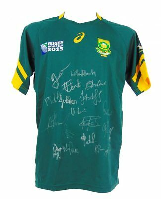 South Africa Springboks Signed Rugby World Cup Shirt 2015 + *photo Proof*
