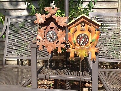 Two vintage German Cuckoo Clocks (both for repair or spares)