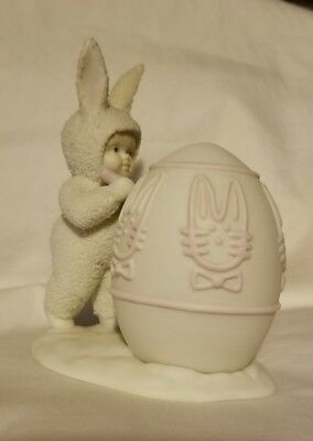 Dept 56 Snowbunnies Figurine Easter I'LL COLOR THE EASTER EGG 1996