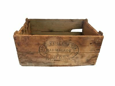 James Keiller & Son Dundee Marmalade Very Rare Wood Shipping Crate Advertising