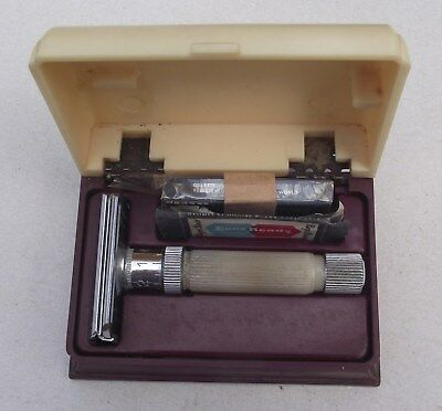 Vintage Boxed Personna Precision Adjustable Razor Art Deco Chrome Plated