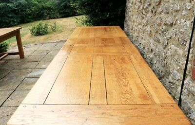 Stunning 10 ft (300cm) Solid Oak French Farmhouse Refectory Dining Table