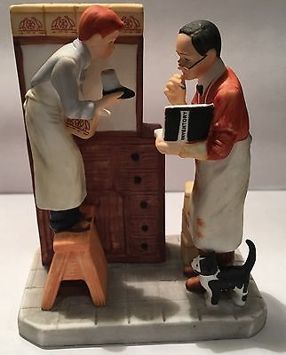 "Norman Rockwell Figurine ""Year End Count"" by Gorham ~ (Numbered)"