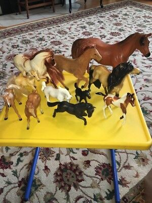 Lot Of Horses Colors Some Signed  11 Pcs