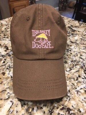 Women's Salty Dog Cafe Hat Brown with Pink writing