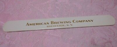 Vintage Beer Advertising Foam Scraper American Brewing Company