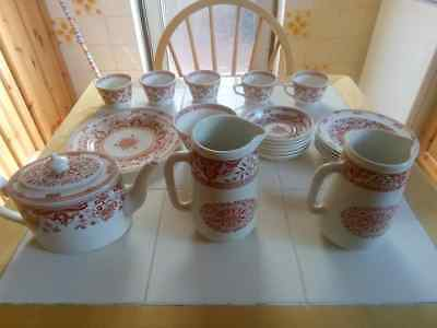 Minton Tea Set Denmark etc.  19th and early 20th century VG+ condition 22 Piece