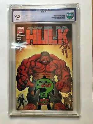 MARVEL - Hulk 1 VARINAT CBCS 9.2 1ST APP AS RED HULK HTF