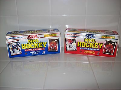 1990 Score Nhl Hockey Premier Edition Collector Set - 2 Boxes - Eng. & Bilingual