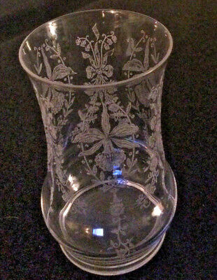 Heisey Orchid Crystal Clear Flat Bottom Ice Tea Glass