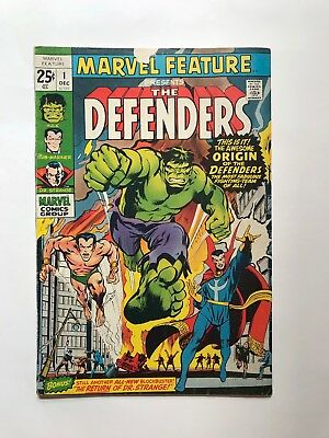 Marvel Feature #1 Vol 1 1st Appearance of the Defenders HTF