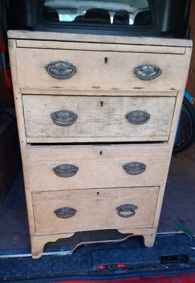 Lovely Rustic Antique Pine Set Of Drawers Bedroom shabby chic