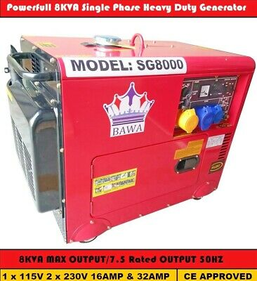 8Kva Diesel Generator Three Phase Super Silent Electric Start Model 2018