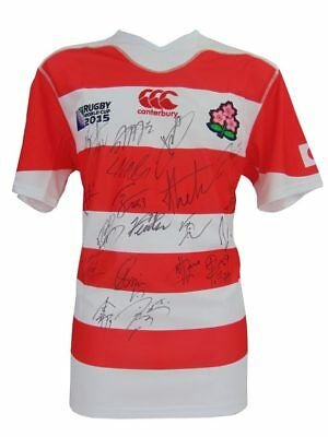 Japan Signed Rugby World Cup Shirt 2015+Photo Proof*see The Players Sign Shirt*