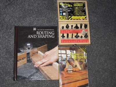 """Router cutters, unused boxed set of 12 Workzone 1/4"""" cutters and two manuals"""