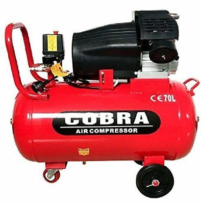 NEW 70L Vtwin COBRA AIR COMPRESSOR  ELECTRIC 9.6CFM 2.5HP 230V115PSI PORTABLE