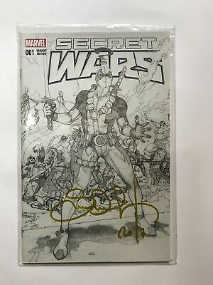 SECRET WARS 1 VARIANT FORBIDDEN PLANET NM x2 SIGNED VARIANTS SIMON BIANCHI