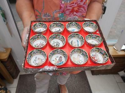 Chinese Vintage Porcelain Bowls 12 Showing Chinese New Years Each 5Cm Across