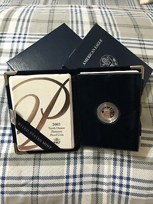 2003 - American Platinum Eagle Proof  - 1/10 oz. -  $10 with U.S. Mint Packaging
