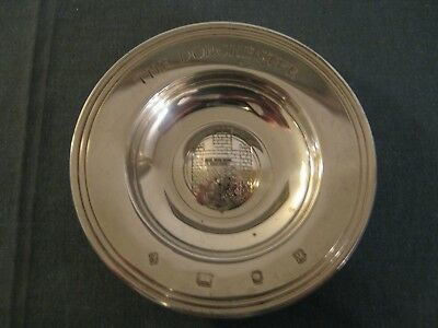 Solid Silver Pin Dish - The Dorchester Hallmarked London 1986