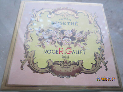 Alte Seife Roger & Gallet  Rose The in Box mit Folie