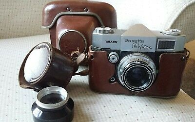 Vintage 1960's Braun Paxette Reflex 35mm Camera With Brown Carry Case