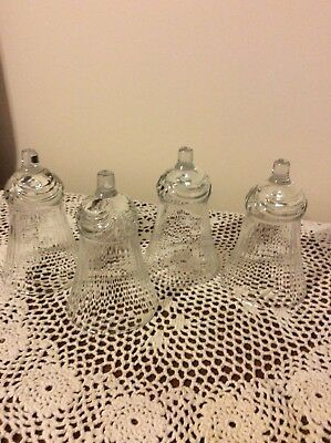 Home Interior / Homco Set Of 4 Renaissance Votive Cups / Globes Clear