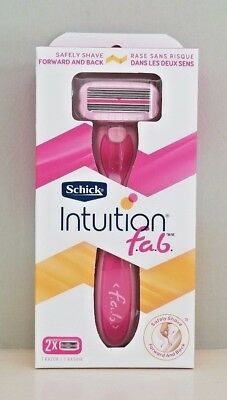 Schick Intuition f.a.b. Women's Pink 5 Blades Razor Handle with 2 Refills