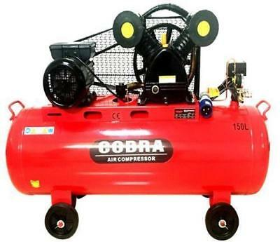 Cobra 150 Litre 150L Twin Belt Drive 240V 4Hp 14 Cfm V Engine Air