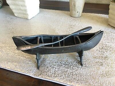 Vintage James W. Tufts Silver Canoe Boston Native American patented 1880