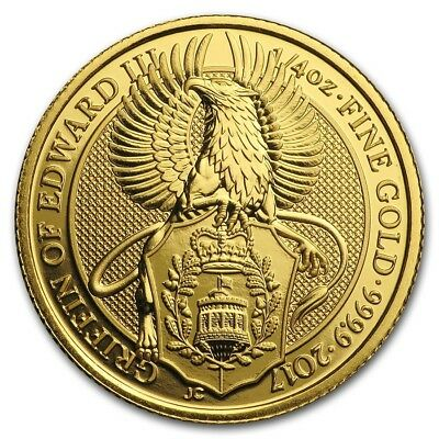 2017 Royal Mint 1/4oz Gold Queens Beast Griffin