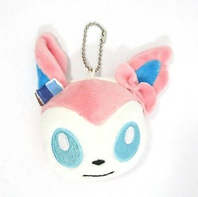 Pokemon Sylveon Keychain Zipper Pull Stress Ball Bag Charm NEW GameFreak
