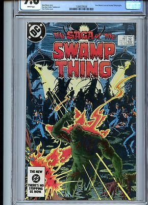 Swamp Thing #20 CGC 9.8 White Pages 1st Alan Moore on Title