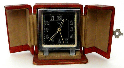 ART DECO FRENCH ALARM CLOCK IN ORIGINAL BOX Maker - GEM - Not Working but good