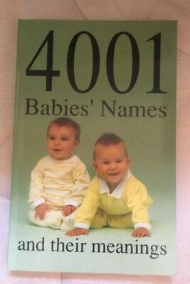 4001 Baby Names and meanings book