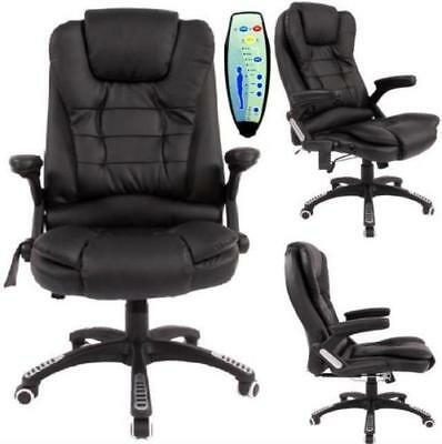 6 Point Designed Massage Office Computer Chair Executiv Leather Swivel Reclining