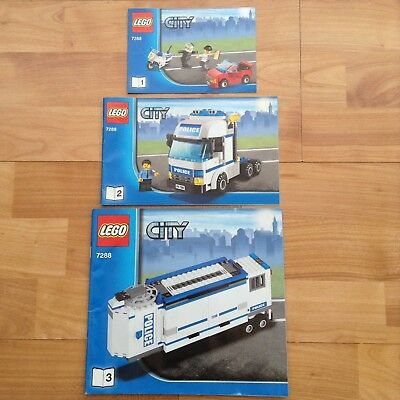 Lego City 7288 Mobile Police Unit Instructions Only 299
