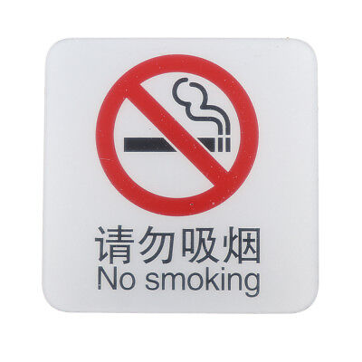 No Smoking Sign, No Smoking Sticker, Acrylic for Any Public Places - Durable
