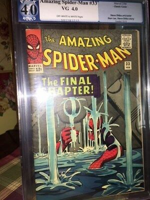 the Amazing Spider-man #33 1966 Very Good 4.0 PGX Steve Ditko art and cover Lee