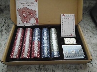 Longaberger Dealer's Choice Basket Accessory Set ,Cards,Dice & Chips Sealed