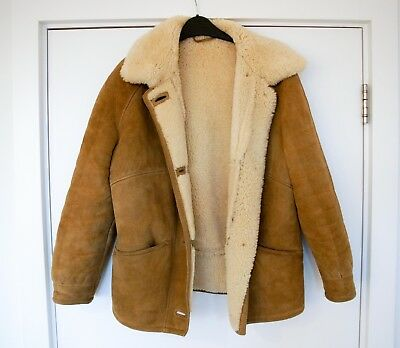 Ladies coat - Genuine Real Sheepskin Womans Bomber Jacket - Medium