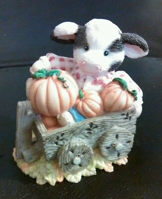 Mary's Moo Moos Enesco Collectible Cow Figurine- I'm Your Little Pumpkin - 1995