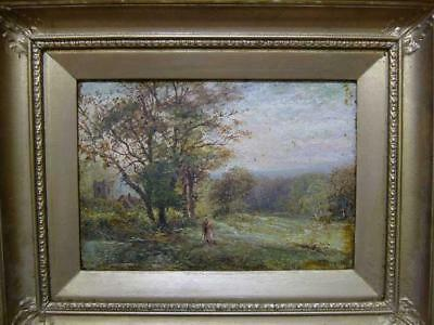 1800s - E BROWN - DIRTY/OLD OIL - FOR RESTORATION - ENGLISH SCHOOL