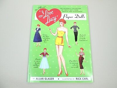 """Vintage 2004 Uncut Paper Doll Booklet Official """"I Love Lucy"""" by A.Glaser/R. Carl"""