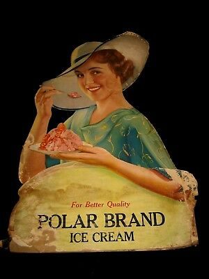 Vintage Card Board Counter Top Display for Polar Brand Ice Cream