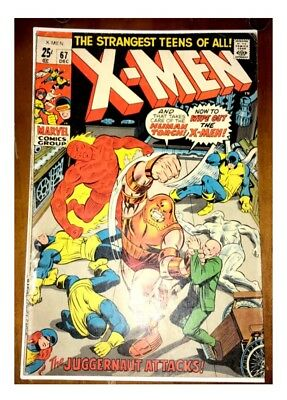 Uncanny X-Men # 67 - 1st Series - Marvel Comics Group - 1970