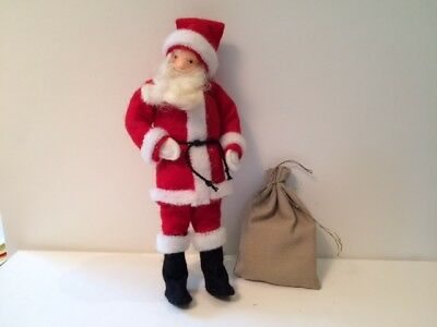 """Puppenhauser Santa with Toy Bag 1"""" Scale Dollhouse Miniature"""