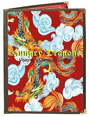 """MENU COVERS BROWN DOUBLE PANEL - 4-VIEW - 8.5"""" WIDE x 11"""" TALL - DOUBLE-STITCHED"""