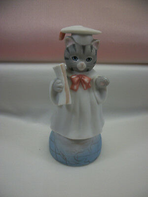 Schmid Kitty Cucumber Graduate/Graduation Figurine 1990B