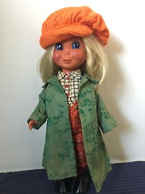 Rare Vintage W. Goebel Vinyl Doll-All clothes original-West Germany- 14""